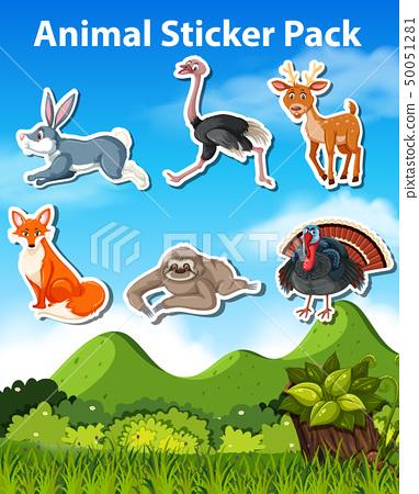 Set of animal sticker 50051281