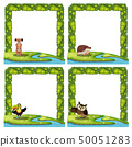 Set of animal nature template 50051283