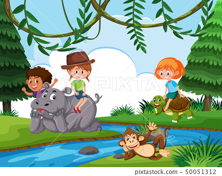 Children in nature background 50051312