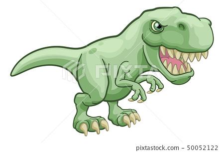 Tyrannosaurus T Rex Dinosaur Cartoon Character 50052122