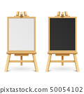 School black and white blank boards on easel vector illustration 50054102
