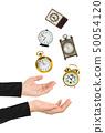 Juggling hands and clocks 50054120