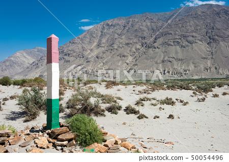 타지키스탄 아프가니스탄 국경의 비석 타지키스탄 · 파미르 고원 ·와 한 회랑 50054496