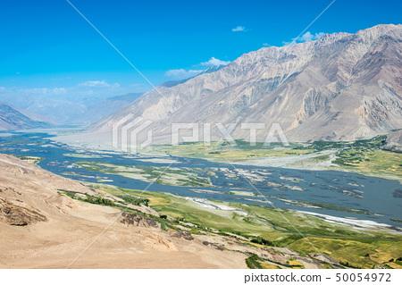 야무츈 요새에서 보이는 Panj river (타지키스탄 아프간 국경) 타지키스탄 · 파미르 고원 50054972