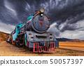 Locomotive train in Wadi Rum desert, Jordan 50057397