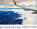 Flying above the Vosges Mountains in France 50057744