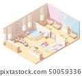 Isometric infant daycare classroom 50059336