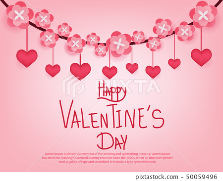 Happy valentine's day. Object background with 50059496