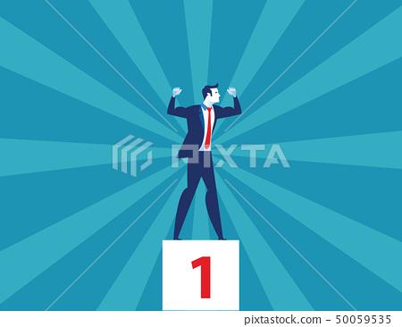 Businessman winner. Concept business vector 50059535