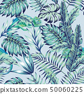 chameleon blue jungle light background 50060225