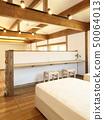 애완 동물 동거 형 디자이너 주택의 세련된 침실 50064013