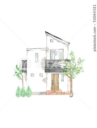 家,园林树,符号树 50064381
