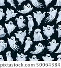 Halloween ghost cartoon seamless pattern 50064384