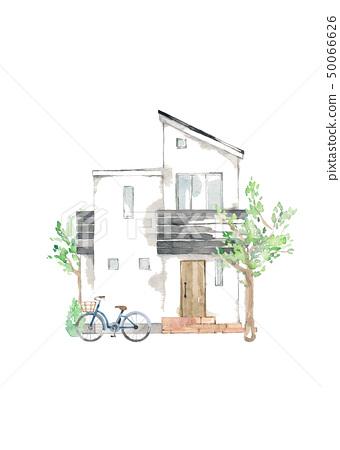 家,符號樹,自行車 50066626