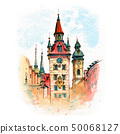 Old Town Hall in Munich, Germany 50068127