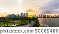 Singapore skyline cityscape on marina bay  50069480