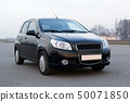 Modern car new model compact hatch black color 50071850
