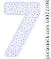 7 Digit Polygonal Frame Vector Mesh Illustration 50072298
