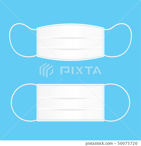 Medical mask or Protective mask isolated on blue 50075720