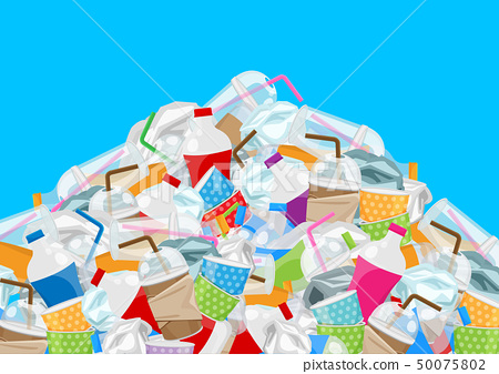 waste, pile of garbage waste plastic mountain 50075802