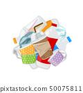 pile of plastic waste dump isolated on white 50075811