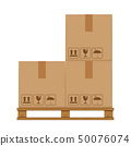 crate boxes on wooded pallet, wood pallet of boxs 50076074