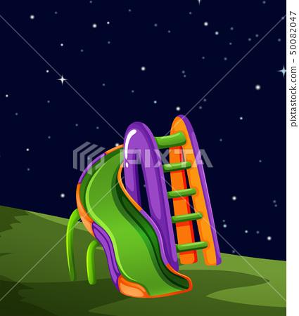 Playground at night scene 50082047