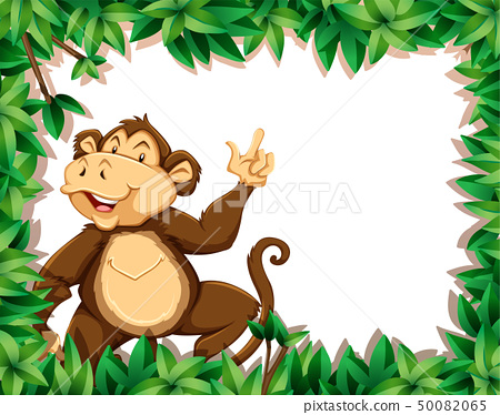 Monkey in nature frame 50082065