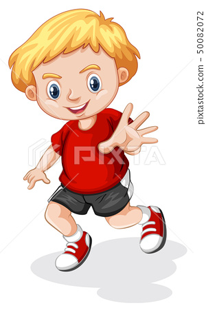 young blonde boy character 50082072
