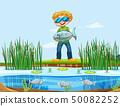 A man catching fish 50082252