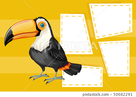 Toucan on note template 50082291