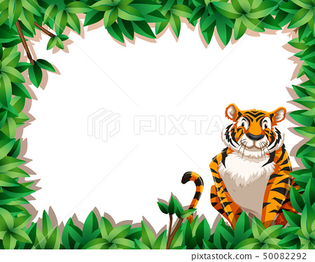 Tiger in nature frame 50082292