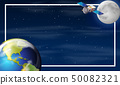 Earth on space border 50082321
