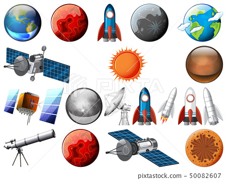 Set of space object 50082607