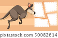 Kangaroo on note template 50082614