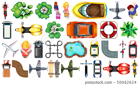 Set of various object  top view 50082624