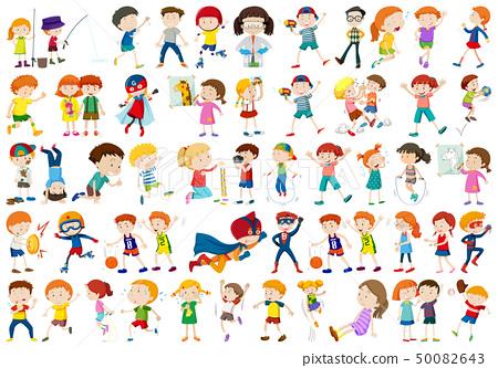 Set of children character 50082643