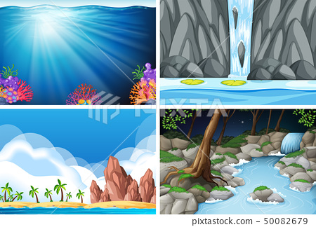 four different nature scenes 50082679