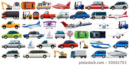 transport set of cars and trucks 50082701