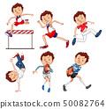 Set of male sport athletes 50082764