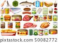 Set of food on white background 50082772