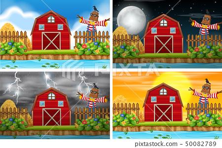 Set of farm scene 50082789