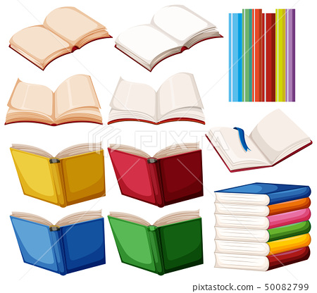 Set of book on white background 50082799