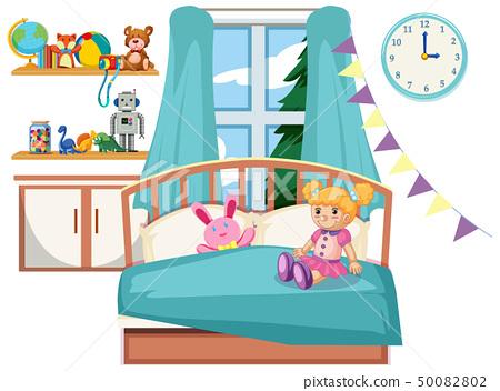 Cute kid bedroom interior 50082802