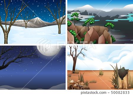 Set of nature landscape 50082833