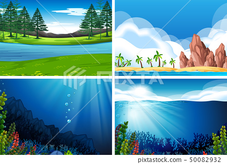Set of nature landscape 50082932