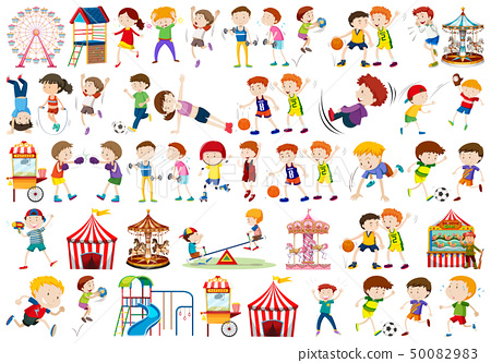 Set of people character 50082983
