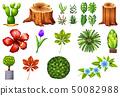 Set of ornamental plants 50082988