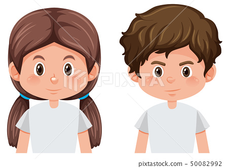 Boy and girl face 50082992