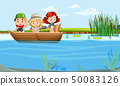 kids on a boat 50083126